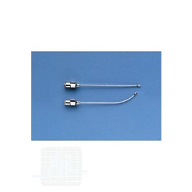 Curved cannula button