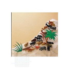 Ensemble jouets animaux de zoo 100 pièces