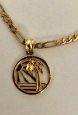 Sunset koraal figaro ketting