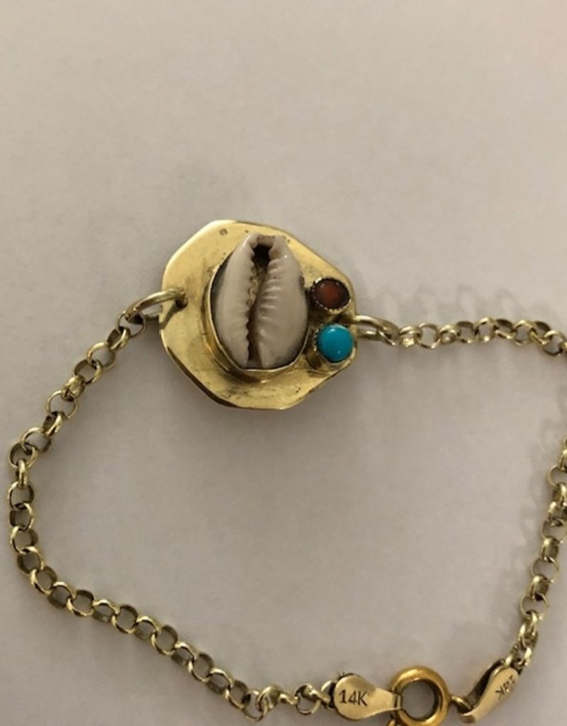 Cowrie schelp armband