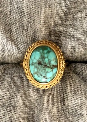 Gypsy turquoise ring