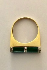 Malachite art deco ring