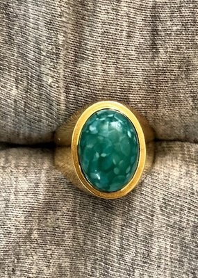 Chrysopraas ring