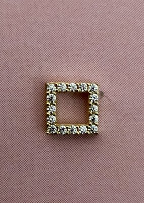 Square diamond studs