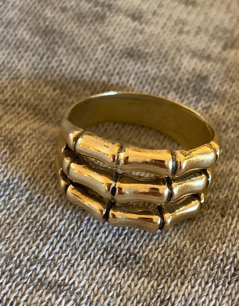 Triple Bamboo band ring