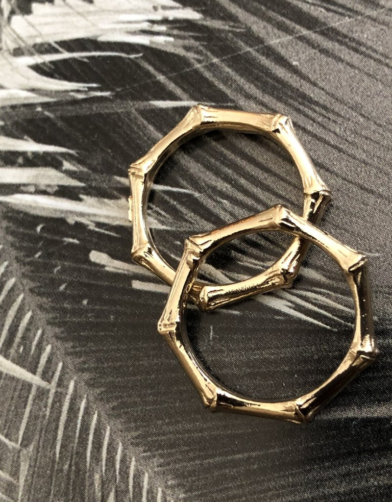 Bamboo stack ring solid 14 crt gold