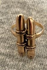 Bamboo bar ring 14 crt