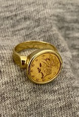 Coin pink ring