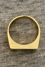 Chunky square signet ring