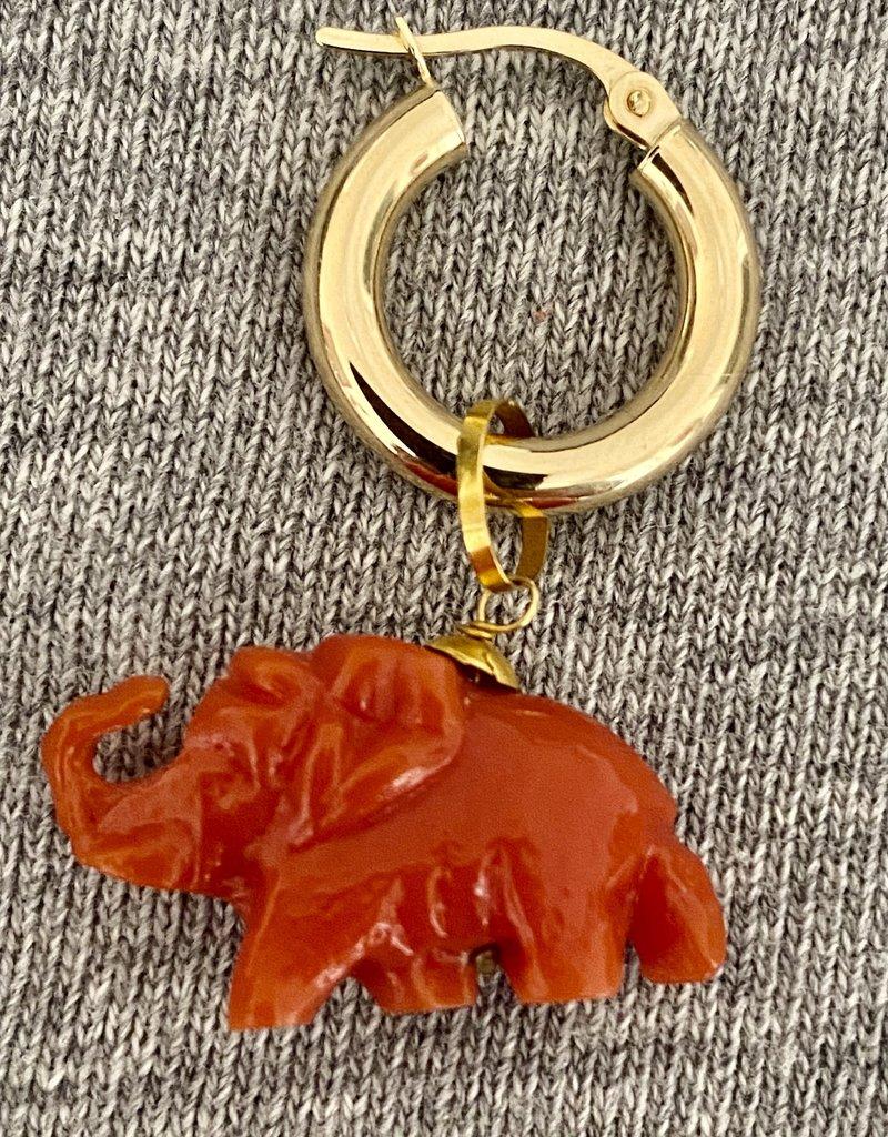 Coral Elephant hoop