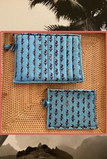 Floral quilted bag set