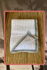 Large cotton Sashiko embroderie throw