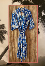 Blue white floral pattern bathrope