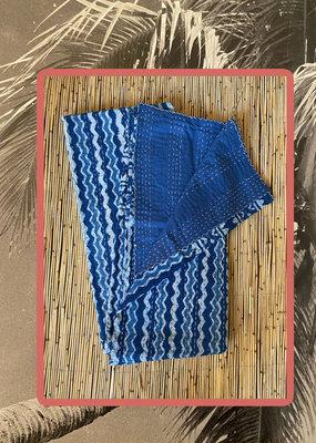 Indigo Blue double handmade Kantha throw