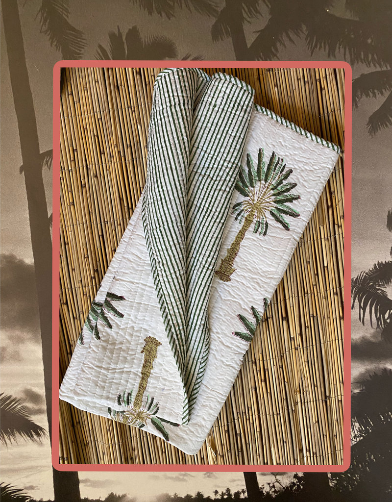 Palm pattern baby cuddle blanket