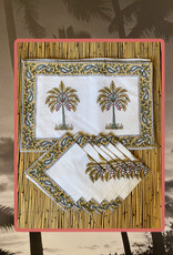 palm placemet set with napkins