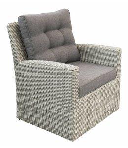 4 Jahreszeiten Gartenmöbel Lounge Sessel Milano | Mystic Grey | Wicker