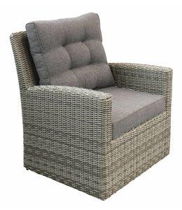 4 Jahreszeiten Gartenmöbel Lounge Sessel Milano | Ash Grey | Wicker
