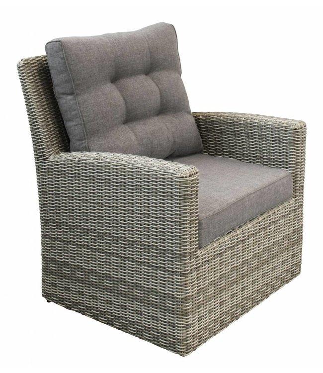 4 Jahreszeiten Gartenmöbel Lounge Sessel Dublin | Ash Grey | Wicker