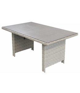 4 Jahreszeiten Gartenmöbel Gartentisch Dublin 145x85cm | Mystic Grey | Wicker & Keramik