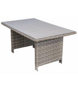 4 Jahreszeiten Gartenmöbel Gartentisch Milano 145x85cm | Ash Grey | Wicker & Keramik