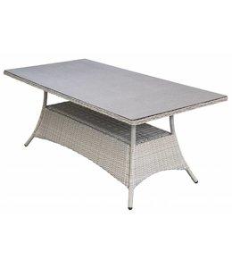 4 Jahreszeiten Gartenmöbel Gartentisch Milano 180x100cm | Mystic Grey | Wicker & Keramik