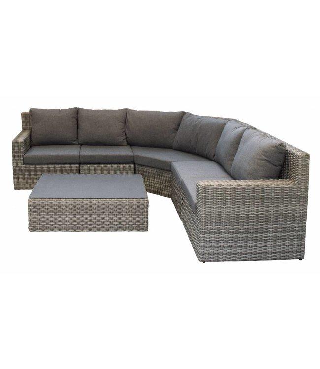 4-jahreszeiten gartenmoebel Sorrento XL Eck-Lounge-Set (Aschgrau)