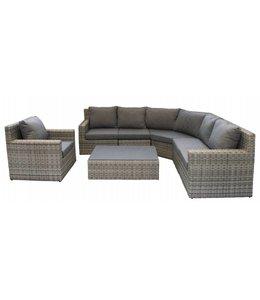 4-jahreszeiten gartenmoebel Sorrento XL Corner Lounge Set mit Stuhl (AG)