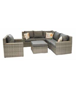 4 Jahreszeiten Gartenmöbel Sorrento Corner Lounge Set mit Stuhl (AG)