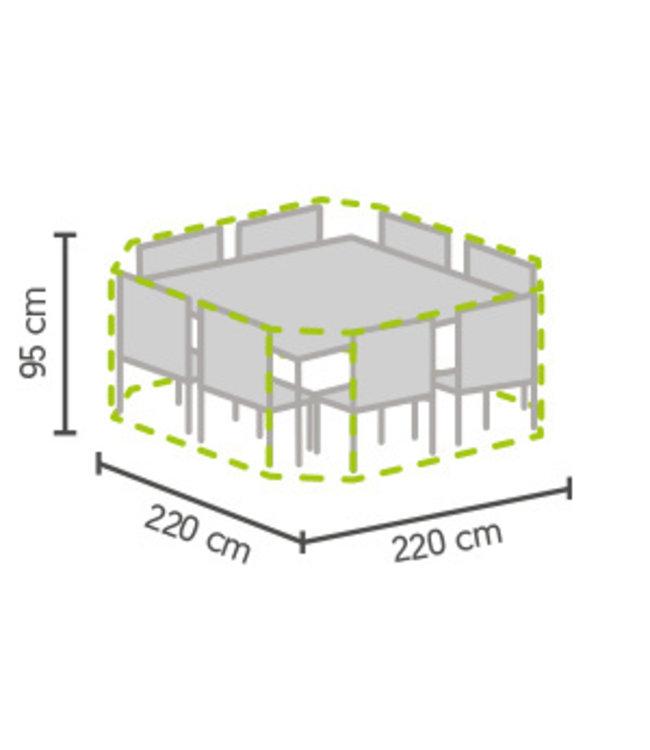 Outdoor Covers Garten Set Schutzhülle 8-eckig 220x220x95cm