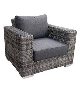 4-jahreszeiten gartenmoebel Loungestuh| Prince | Dark Grey | Rund wicker