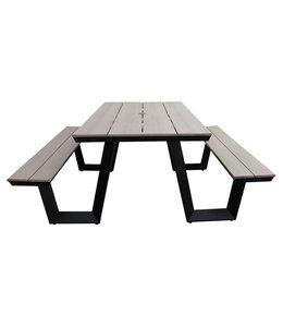 4-jahreszeiten gartenmoebel Picknicktisch | Coffee bay | Holz | Aluminium & Polyholz