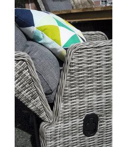4-jahreszeiten gartenmoebel Milano Verstellbare Gartenstühle (AG) / 150 cm runder Tisch (AG) 7-teiliges Gartenset