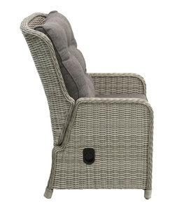 4-jahreszeiten gartenmoebel Milano verstellbare Gartenstühle (MG) / Limasol runde 120cm Holz 5-teilige Gartenmöbel