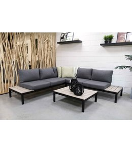 4 Jahreszeiten Gartenmöbel George Loungeset (Wood) Aluminium/Polywood