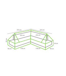 Loungeset Schutzhülle | Plateau | 272x272x94cm
