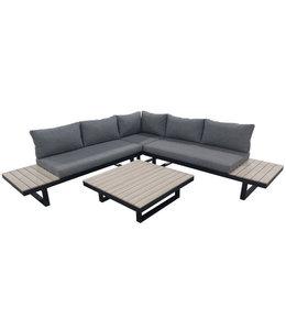 4 Jahreszeiten Gartenmöbel Plattform-Loungeset Hoedspruit | 4-teilig | Holz | Aluminium & Polywood