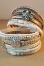Stoere, brede dames armband Venetië