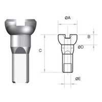 thumb-Sapim Nippel 14G - Polyax - Alu - Silber-3