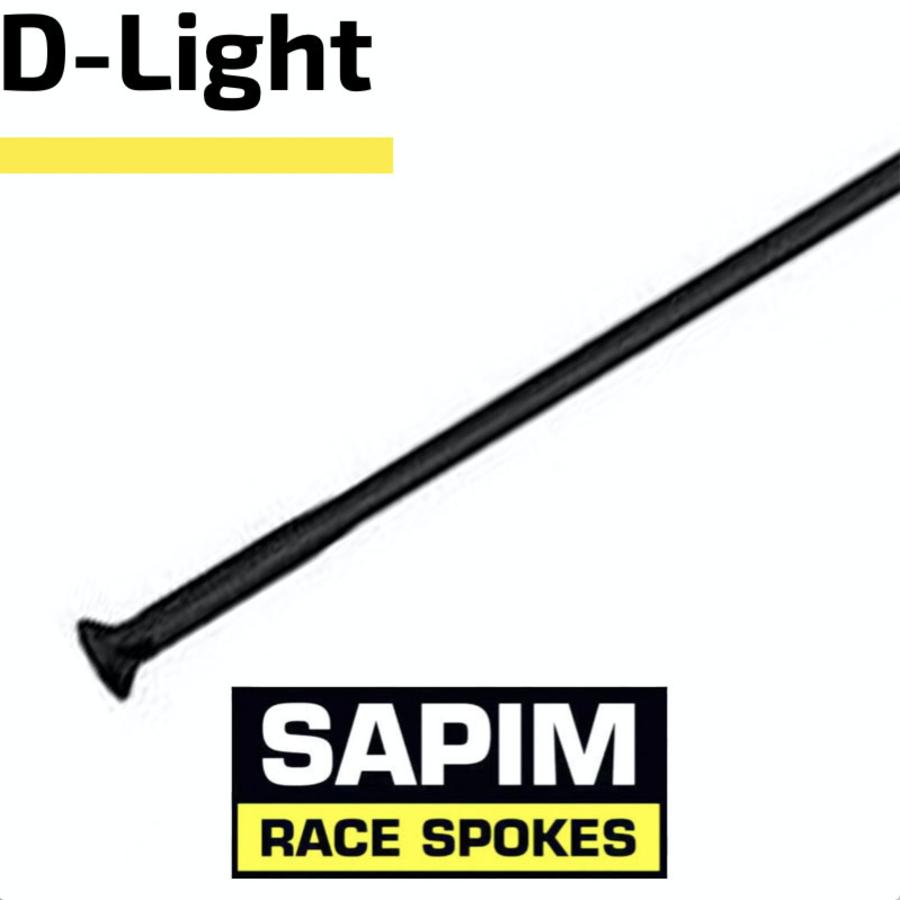 Sapim D-Light - Zwart - Straight Pull - Spaak-3