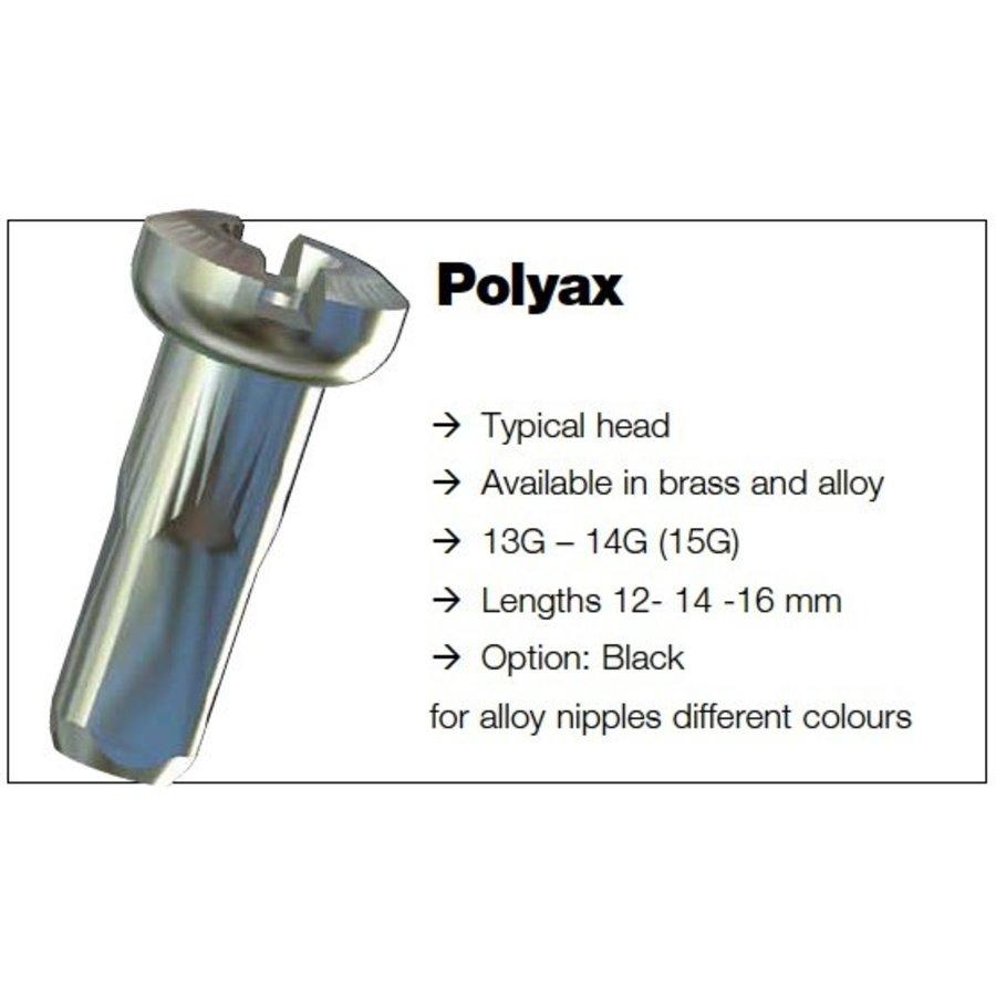 Sapim Nippel 14G - Polyax - Alu - Zwart-4
