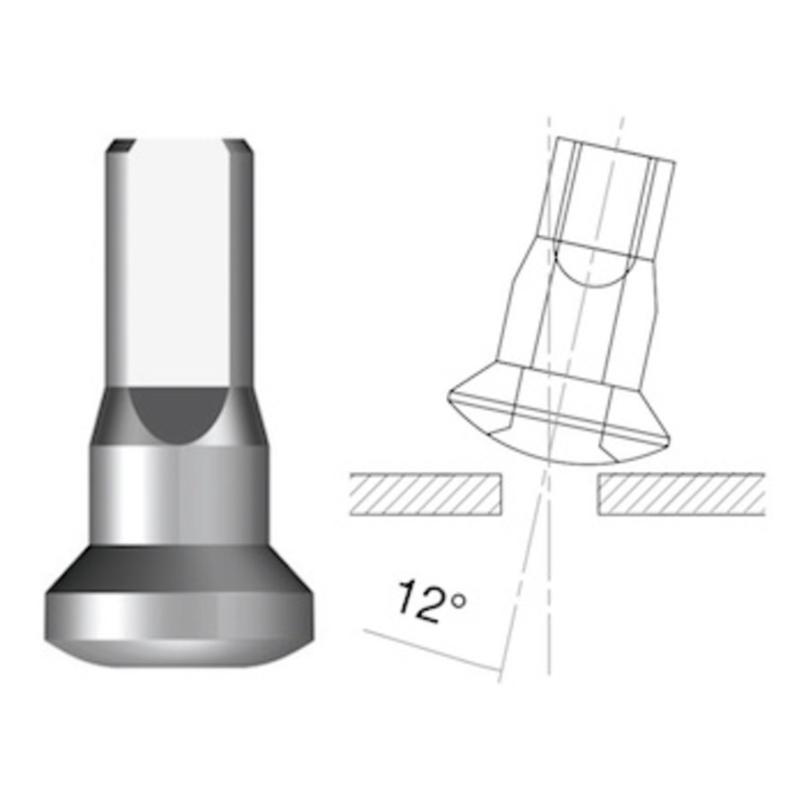 Sapim  Nippel 14G - Alu - Upside-Down - Interne Nippel-1