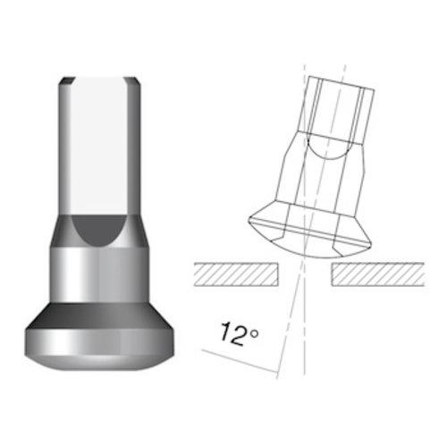 Nipple 14G - Brass - Upside-Down - Internal Nippel