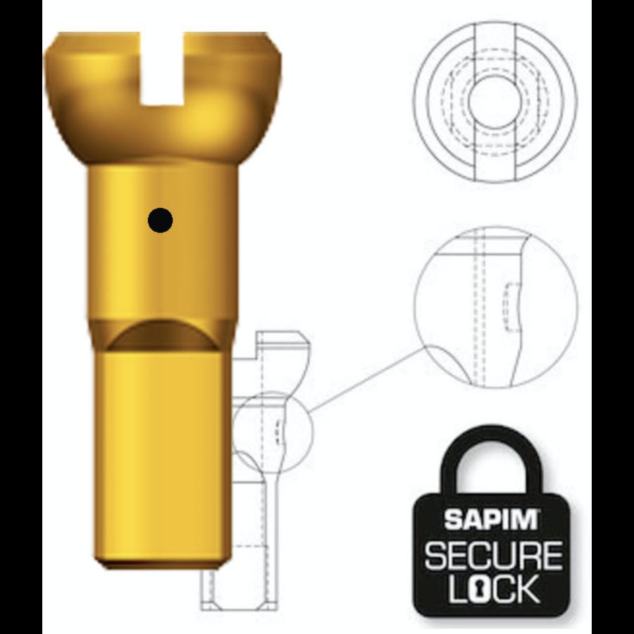 Sapim Nippel 14G - Polyax - Alu - Gold - Secure Lock-1