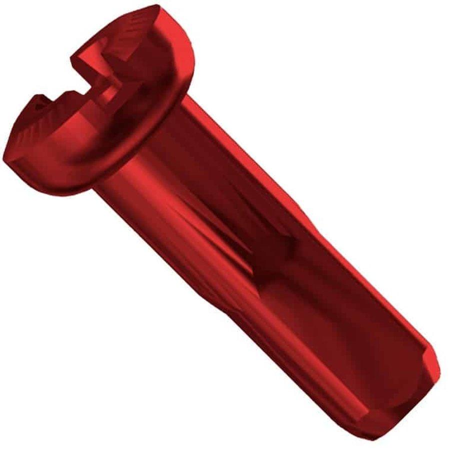 Sapim  Nippel 14G - Polyax - Alu - Rood - Secure Lock-3