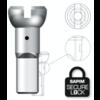 Nippel 14G - Polyax - Alu - Silber - Secure Lock