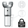 Sapim Sapim Nipple 14G - Polyax - Alu - Silver - Secure Lock
