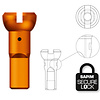 Sapim Sapim Nipple 14G - Polyax - Alu - Orange - Secure Lock