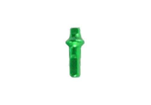 Nippel 14G - Polyax - Alu - Double Square - Gif Groen