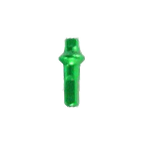 Nippel 14G - Polyax - Alu - Double Square - Giftiges Grün